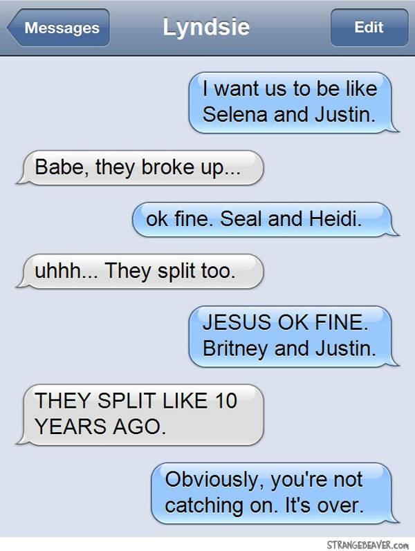 Funny Text Break Up Quotes