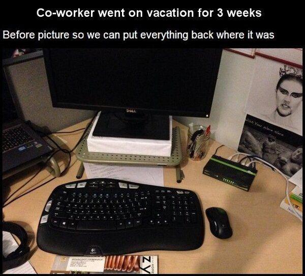 office desk pranks MEMEs